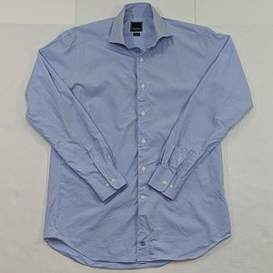 David Donahue Trim Fit Button Down